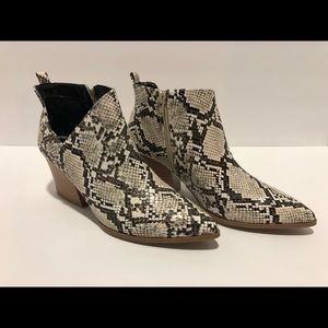 Faux-snake Booties